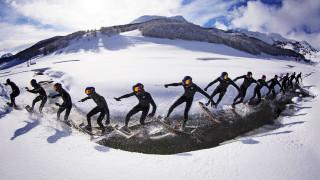 Wakeskate sulla neve, la nuova frontiera di Brian Grubb