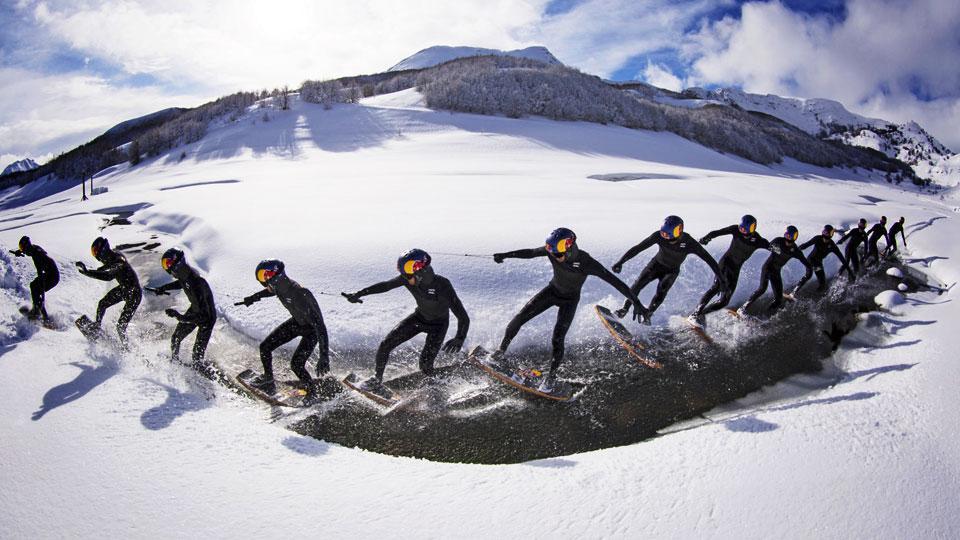 Wakeskate sulla neve la nuova frontiera di brian grubb - Tavola windsurf slalom usata ...